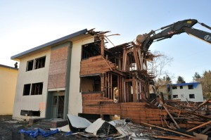 Demolition begins years before planning begins.