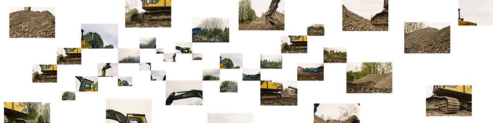 Demolition at Little Mountain: Excavators