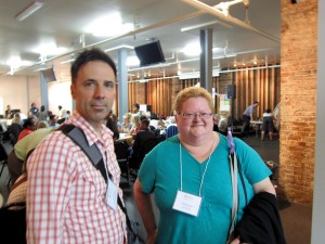 David Vaisbord and Ingrid Steenhuisen (Community advocate and Little Mountain resident)at Community Dialogue at Dodson Centre, Friday May 22, 2015